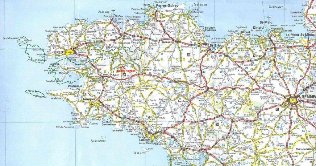 Localisation Saint Herbot