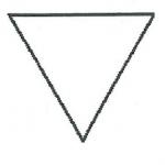 triangle équilatéral pointe en bas