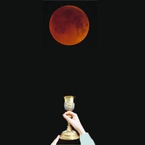 Lune rousse rouge de sang rituel de Magie Blanche