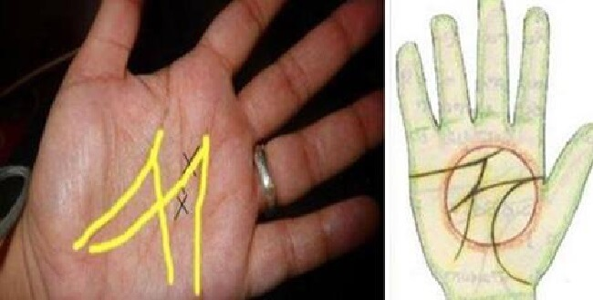 M dans la main chiromancie