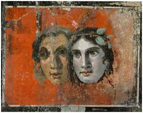 Rêve Pompéi et morceau de poterie