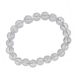 Bracelet perle cristal de roche USAGE UNIVERSEL ET RENFORT AUTRES PIERRES