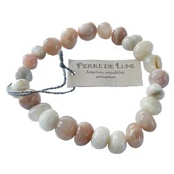 bracelet pierre de lune nuggets