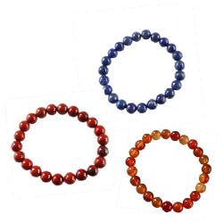 Bracelets perles cornaline jaspe lapis lazuli pourENERGIE - COURAGE - ESPRIT CLAIR