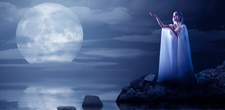 Magie de Pleine Lune pour la réalisation d'un souhait
